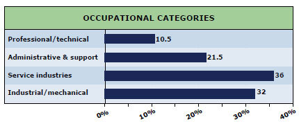 Occupational Categories chart