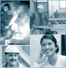 Collage of workforce images
